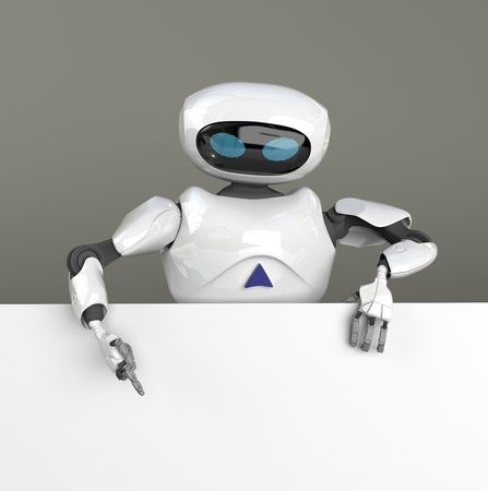 the female robot searth in internet ,3d render. 스톡 콘텐츠