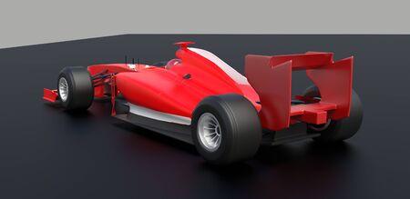 Czerwony samochód sportowy, samochód wyścigowy, czerwony samochód, renderowania 3d.