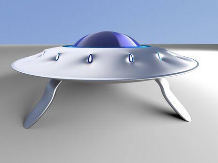 The alien space ship ,UFO,3d render.