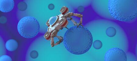 The nano robot ,medical concept,3d render