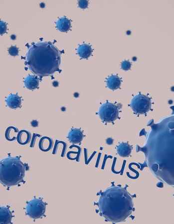 The coronavirus on white baground,3d render.