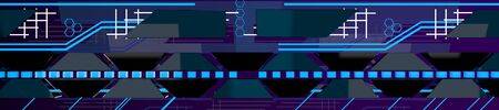 The abstract neon background,sci-fi,3d render. 版權商用圖片