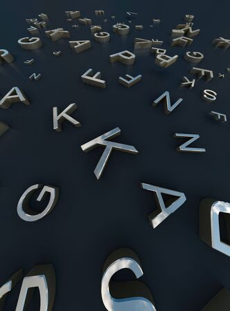 3d Rendering gold words On black Background 版權商用圖片