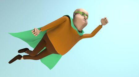 The fat superhero flying