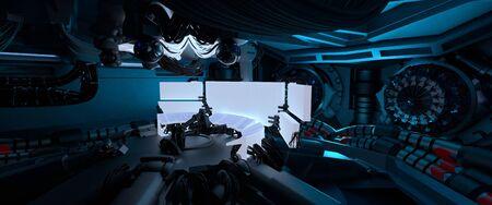 Science fiction spaceship interior, interstellar travel, 3D Rendered Illustration Stock fotó