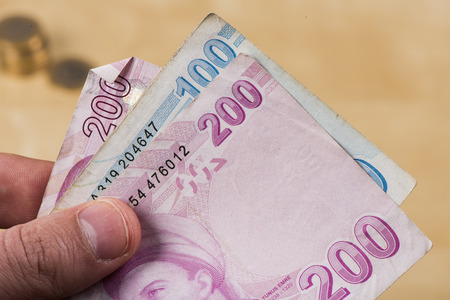 Turkish Liras  money import income finance photo
