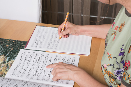 composers: Music is considered an example of mathematical composition . hands of women composers