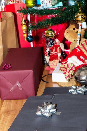 chirstmas: Chirstmas  gift under the christmas tree Stock Photo