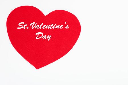 faire l amour: Coeur pour le jour de la Saint-Valentin avec un fond blanc Banque d'images