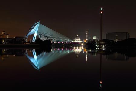 Putrajaya Bridge Reflection Blue photo