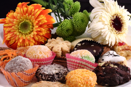 Kuih Raya Flower tradtional malay biscuit Imagens
