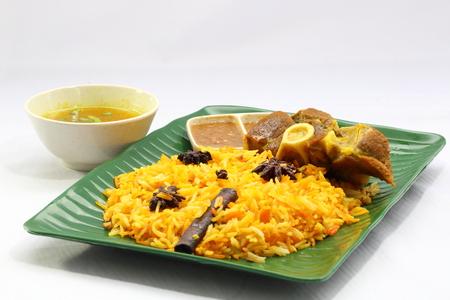 mutton: Biryani rice with lamb mutton