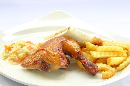 quarter: Quarter grill chicken with Arabic bread