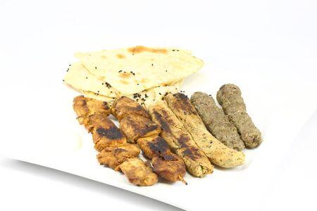 그릴: Mixed grill 스톡 사진