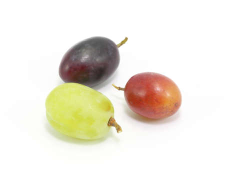 rosso verde: Red Green Black Grape with stem