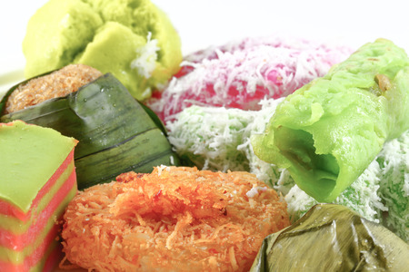 Assortment of traditional Malay Kuih sweets