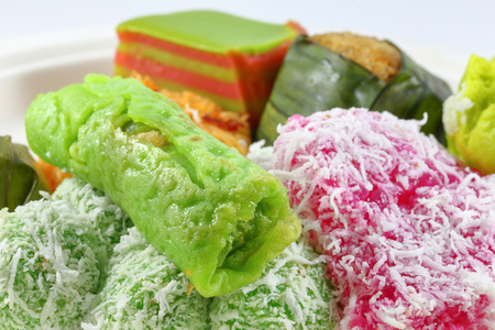 assortment: Assortment of traditional Malay Kuih sweets