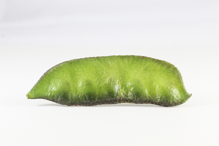 roman beans: Helda Flat Roman Beans vegetable on white background