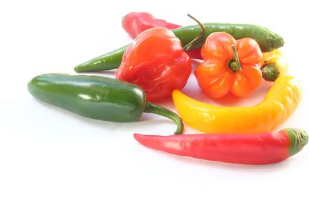habanero: Habanero chili pepper hot spicy on white background Stock Photo
