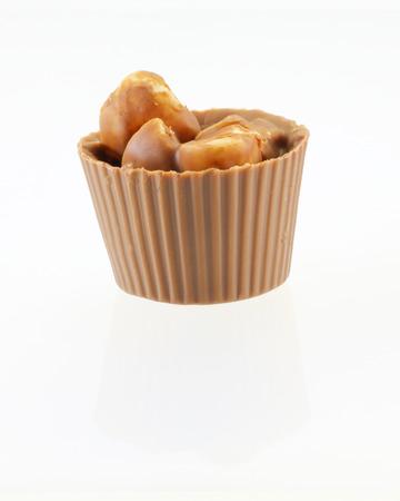 truffe blanche: Chocolate Truffle Sweet treat mix assortment on white background