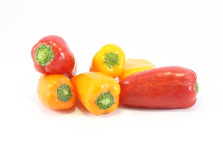 red jalapeno: Jalapeno Chili Pepper red yellow orange on white background Stock Photo