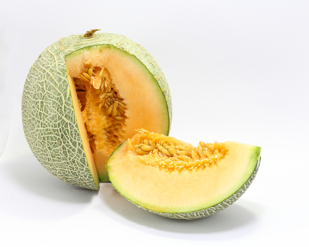 persian green: Cantaloupe rock melon green cantelope cantaloupe muskmelon mushmelon rockmelon sweet melon honeydew Persian melon spanspek Stock Photo