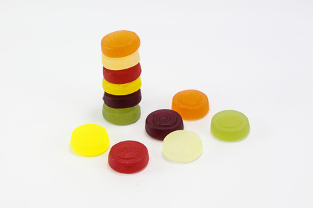 sweet and sour: Sweet sour Gummy Jelly Candy on white background