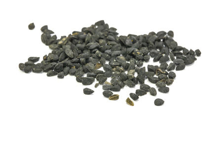 black seed: Black Seed Spice exotic taste flavour on white background