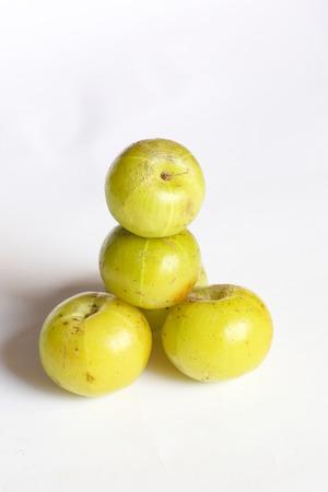 myrobalan: Phyllanthus emblica amla amloki healthy berry fruit herbal