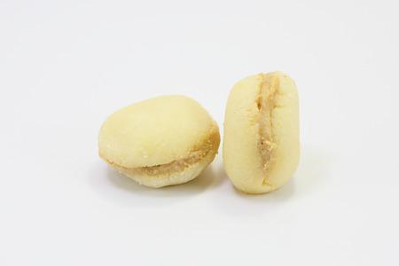 gulab: Cream toast Traditional Bangladesh Sweets on white background Stock Photo