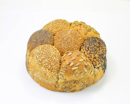 multi grain: Multi grain loaf pumpkin sesame black seed bread
