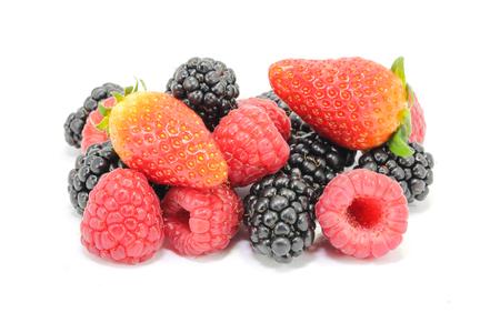 fruit mix: Strawberry Blackberry Raspberry Fruit Mix  on white background