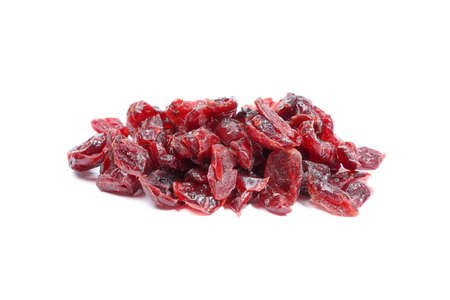 cranberry fruit: Dried Cranberry Fruit tasty healthy berry on white background