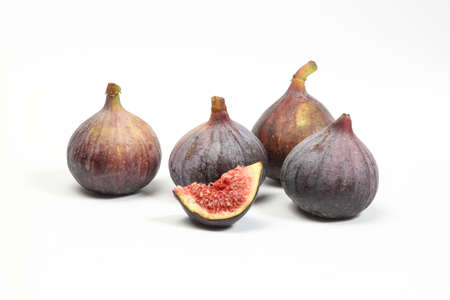fig fruit: Common Fig Fruit Flower on white background fresh raw dried