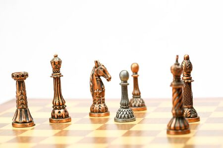 pawns: Chess set board game strategy king queen bishop knight rook pawn