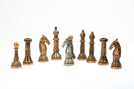 pawn king: Chess set board game strategy king queen bishop knight rook pawn