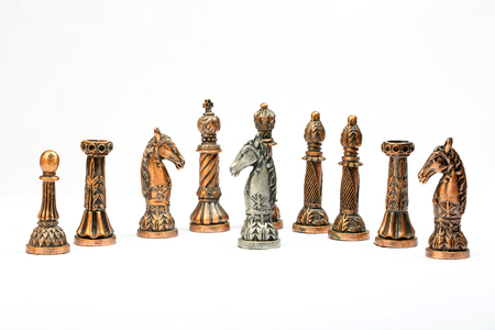 battle plan: Chess set board game strategy king queen bishop knight rook pawn