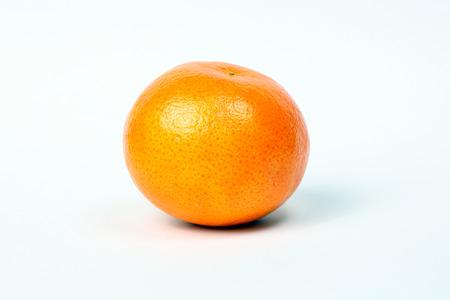 sweet segments: Mandarin Orange fruit fresh ripe healthy skin on white background