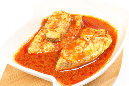 iga: Fish cooked in hot and sour sauce red snapper asam pedas