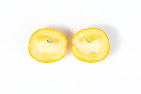 Kumquat ripe juicy small citrus sweet orangey fruit Stock Photo