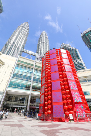 KLCC MALL, KUALA LUMPUR, MALAYSIA- JANUARY 15, 2017: -documentary- Chinese New Year is the most happening holiday season not only in China but most of the south east Asian countries. Decorating the shopping malls for CNY is enjoyed by shoppers and believe Editorial