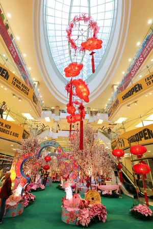FERENHIGHT, KUALA LUMPUR, MALAYSIA- JANUARY 15, 2017: Chinese New Year is most happening holiday season not only in China but most of the south east Asian countries. Decorating the shopping malls for CNY is enjoyed by shoppers and believe to brings good f Editorial
