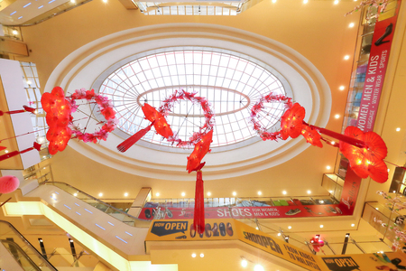 f 15: FERENHIGHT, KUALA LUMPUR, MALAYSIA- JANUARY 15, 2017: Chinese New Year is most happening holiday season not only in China but most of the south east Asian countries. Decorating the shopping malls for CNY is enjoyed by shoppers and believe to brings good f Editorial