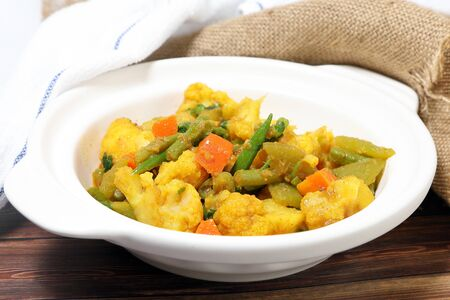 Mixed Vegetable Curry spicy Asian Bengal Indian style