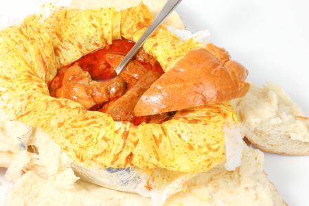 Curry Chicken Steam Bun Big bread special Stock Photo - 80310324