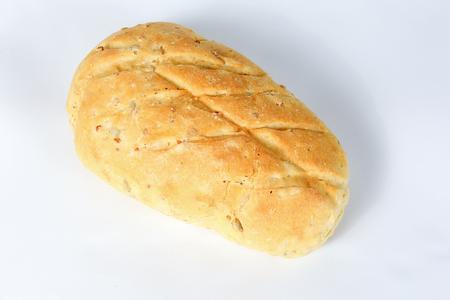 Corn Bread Loaf Yellow bun on white background