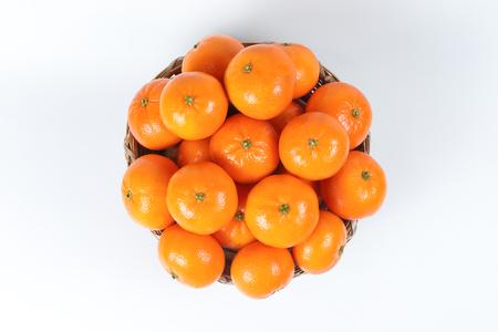 mandarijn sinaasappel Mandarijn gele citrusvruchten gezond Chinees Nieuwjaar cadeau Stockfoto