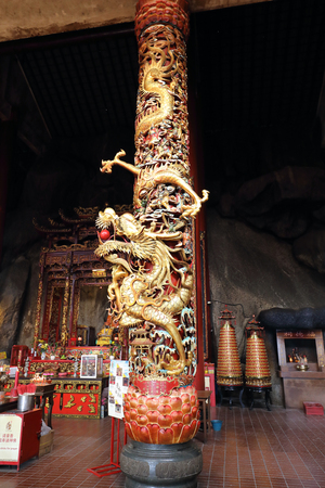KUALA LUMPUR, MALAYSIA- JANUARY 28,  2018: - The Chin Swee Caves Temple, located 4,600 feet above sea level,  the most scenic site of Genting Highlands. The temple is visited by many not only due its location but also one of the most colourful and decorat Editorial