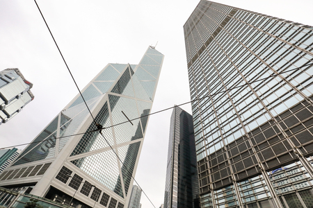 CENTRAL, HONG KONG-FEBRUARY 18, 2018 - Bank of China Tower, central is the business district were many multinational companies have their offices as well as consulates of many countries.  Once known as heart of Victoria City.
