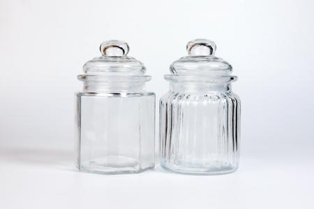 Glass Jar Glass Lid Transparent Decorative Design Stock Photo Extraordinary Glass Decorative Jars With Lids